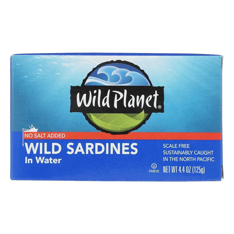 Wild Planet Wild Sardines in Water, 4.375 Ounce - 12 per case.