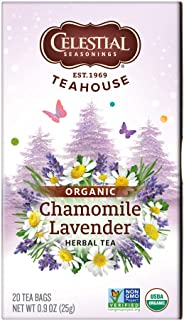 Celestial Seasonings Tea herbal Organic Chamomile Lavender Bag, 20 ct