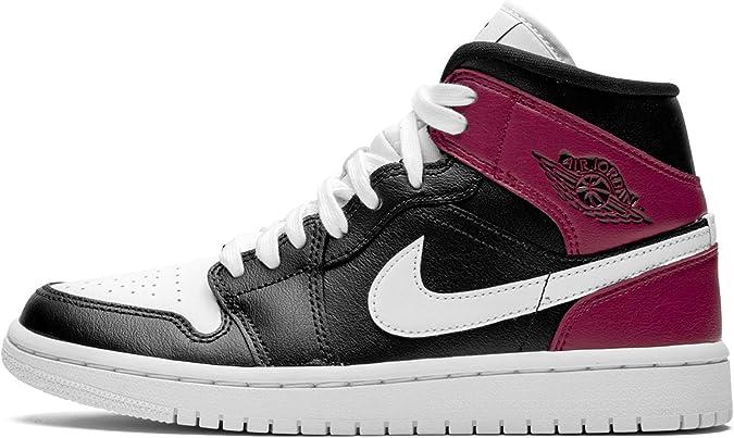 Nike WMNS Air Jordan 1 Mid, Chaussure de Course Femme : Amazon.fr ...