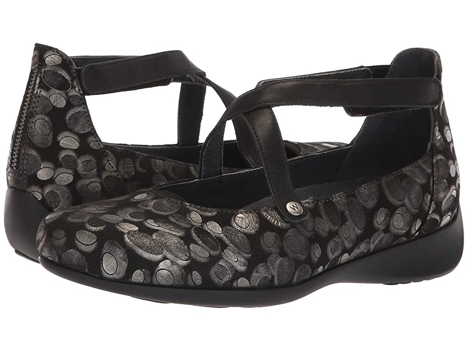 Wolky Ambrosia (Black Metallic) Women