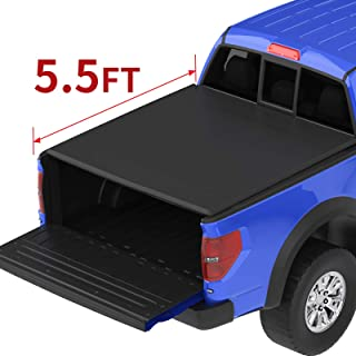 oEdRo Roll Up Truck Bed Tonneau Cover Compatible with 2015-2020 Ford F-150 F150 5.5 Feet Bed, Styleside