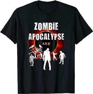 Zombie Apocalypse Creepy Total Solar Eclipse Scary Tshirt w