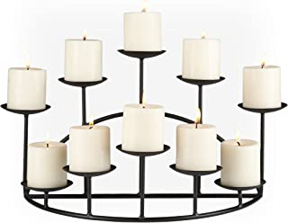 wrought iron candle holders for fireplace