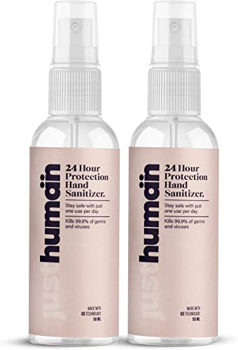 JustHuman 24 Hour Protection Hand Sanitizer 50ml Pack of 2