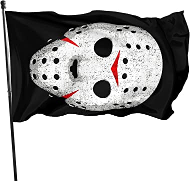 BAIFUMEN Horror Movie Maniac Funny Flag 3x5 FT Holiday Banner Garden Yard House Flags Indoor Outdoor Party Home Decorations V