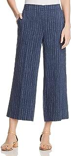 Womens Petites Striped Wide Leg Culottes