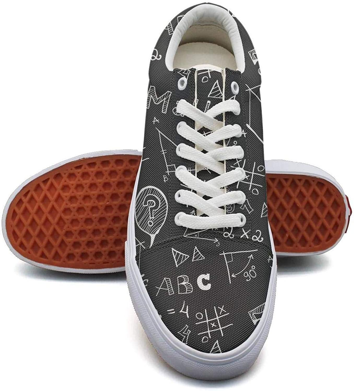 KSOWE3KD Women's Mens Lightweight Flat shoes Black Math Calculus Equations Simple Unisex Cushioning shoes