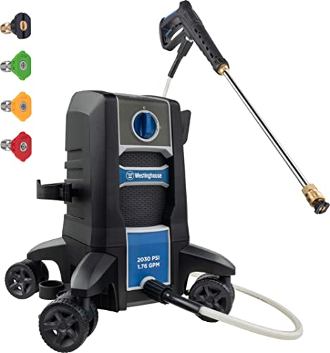 Westinghouse Outdoor Power Equipment Electric Pressure Washer 2030 MAX PSI 1.76 GPM with Anti-Tipping Technology, Soa...