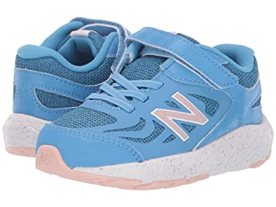 New Balance Kids 519v1 (Infant/Toddler) (Light Lapis Blue/White Oak) Girls Shoes