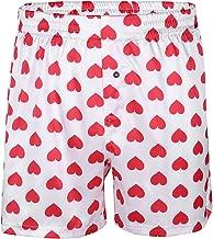 YiZYiF Men's Silk Lips Print Frilly Shiny Satin Boxer Shorts Lounge Underwear Halloween
