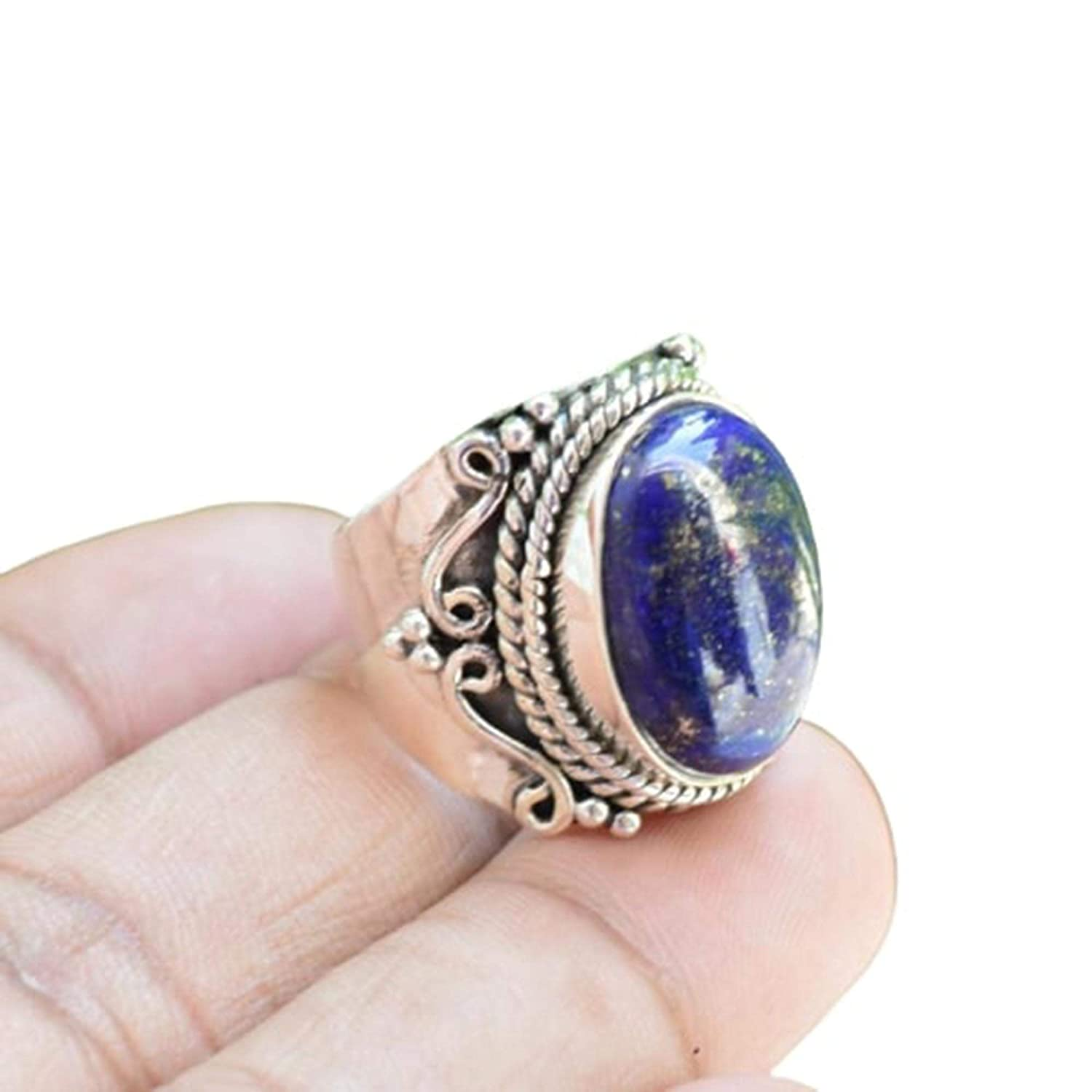 Lapis Lazuli Ring Special Max 56% OFF Campaign Jewelry Afghani Bohemian