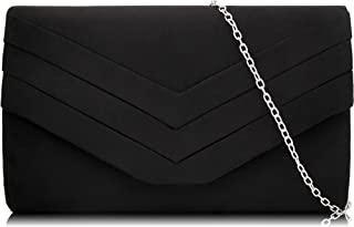 Evening Bag for Women, Suede Envelope Evening Purses...