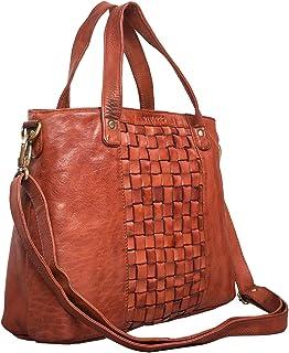 """STILORD Mara"""" Elegante Handtasche geflochtenes Leder mit abnehmbaren Schulterriemen Abendtasche Ausgehtasche Echtleder"""