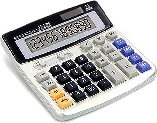 OFFIDIX OFFIDIX حاسبة مكتب حاسبة حاسبة ، آلات حاسبة أساسية ، بطارية شمسية ، حاسبة إلكترونية مزدوجة الطاقة المحمولة 12 رقمً...