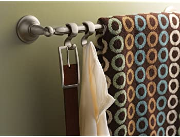 Moen DN6822BN Sage Collection 24-Inch Double Towel Bar, 24 Inch, Brushed Nickel