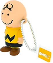 "EMTEC USB Flash Drive 8GB Stick 2.0 Peanuts "" Charlie Brown "" 3D Design - PN 101"