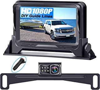 Rohent R1 HD 1080P Backup Camera and Monitor Kit 2021 Version Two Channels License Plate Hitch Camera for Cars Trucks SUVs... photo