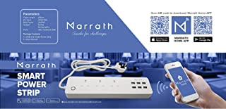 Smart Home WiFi Power Strip to Remote Control Your Appliances From Anywhere in the World and Voice Control with Alexa & Google Home. 3 AC Outlets and 6 USB Port with 6-Foot Cord.
