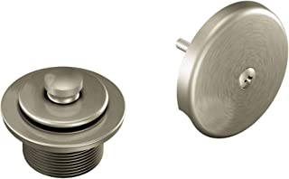 Moen T90331BN Push-N-Lock Tub and Shower Drain Kit with 1-1/2 Inch Threads, Brushed Nickel