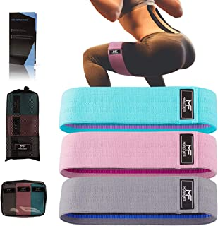 Resistance Bands Booty Bands Hip Bands for Legs and Butt Fabric Exercise Bands Cloth Workout Bands for Women Men Resistanc...