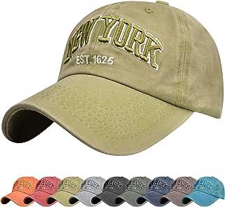 Tuopuda Gorra de Beisbol Sombrero de Gorra Ajustable con Bordado Now York Gorra de Algodón Vintage Sombrero de Sol de Vera...