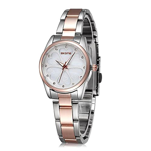 Ladies Water-Resistant Stainless Steel Wrist Watch for Women - Female Rose Gold, Silver