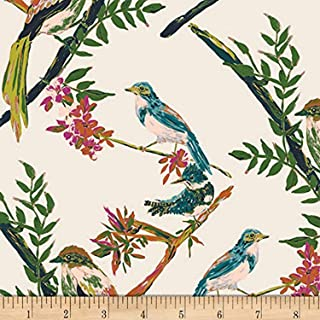 Art Gallery Bloomsbury Day Chatter White, Quilting Fabric by the Yard