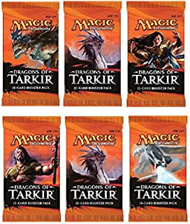 6 (Six) Packs of Magic: the Gathering - MTG: Dragons of Tarkir Booster Pack Lot (6 Packs)