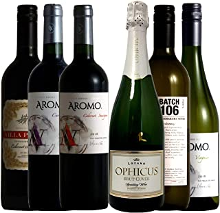 vinexio-ヴィネクシオ- ワイン名産国周遊 スペイン・イタリア・チリ 飲み比べ ワインセット 赤ワイン 3本 白ワイン 2本 スパークリングワイン 1本 750ml×6本