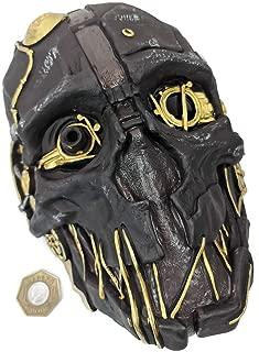 Dishonored Mask Corvo Attano Rat Urethane Costume Cosplay Halloween + Game Coin