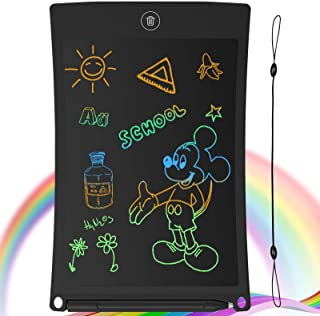GUYUCOM LCD Writing Tablet, 8.5 inch Doodle & Scribble Boards Portable Erasable Writing Tablet for kids adults with Lock F...