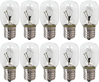 10-Pack,8206232A Light Bulbs 40 Watt Microwave Oven Bulb, Appliance Incandescen Light Bulbs,E17 Base ,Fits Most GE/Whirlpool/Maytag Microwave Ovens,Extra Long Life