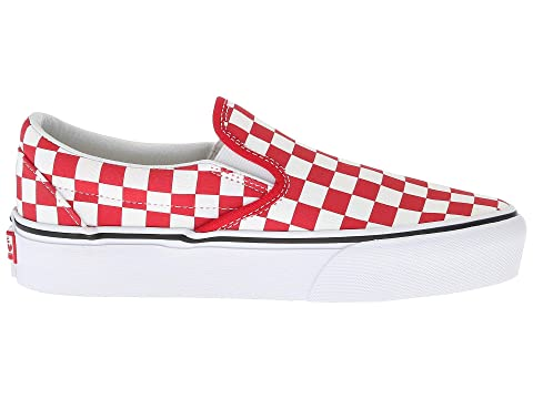 Checker White Blue Red True White Checkerboard Slip Medieval Checkerboard Classic WhiteBlackBlack White On Racing and True Platform Vans PwFqaR4WTW