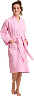 Luxurious Robe Soft Absorbent Lightweight Long Kimono Waffle Spa Bathrobe for Women