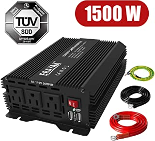 ERAYAK 1500W Power Inverter for Car Inverter 12 Volt DC to AC Converter with 6.2A Dual USB Ports TUV Approved