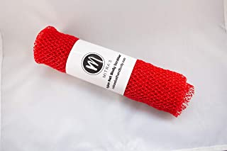 African Net Exfoliating Shower Body Scrubber/ Exfoliating Back Scrubber/Skin Smoother/ Great for Daily Use - Red