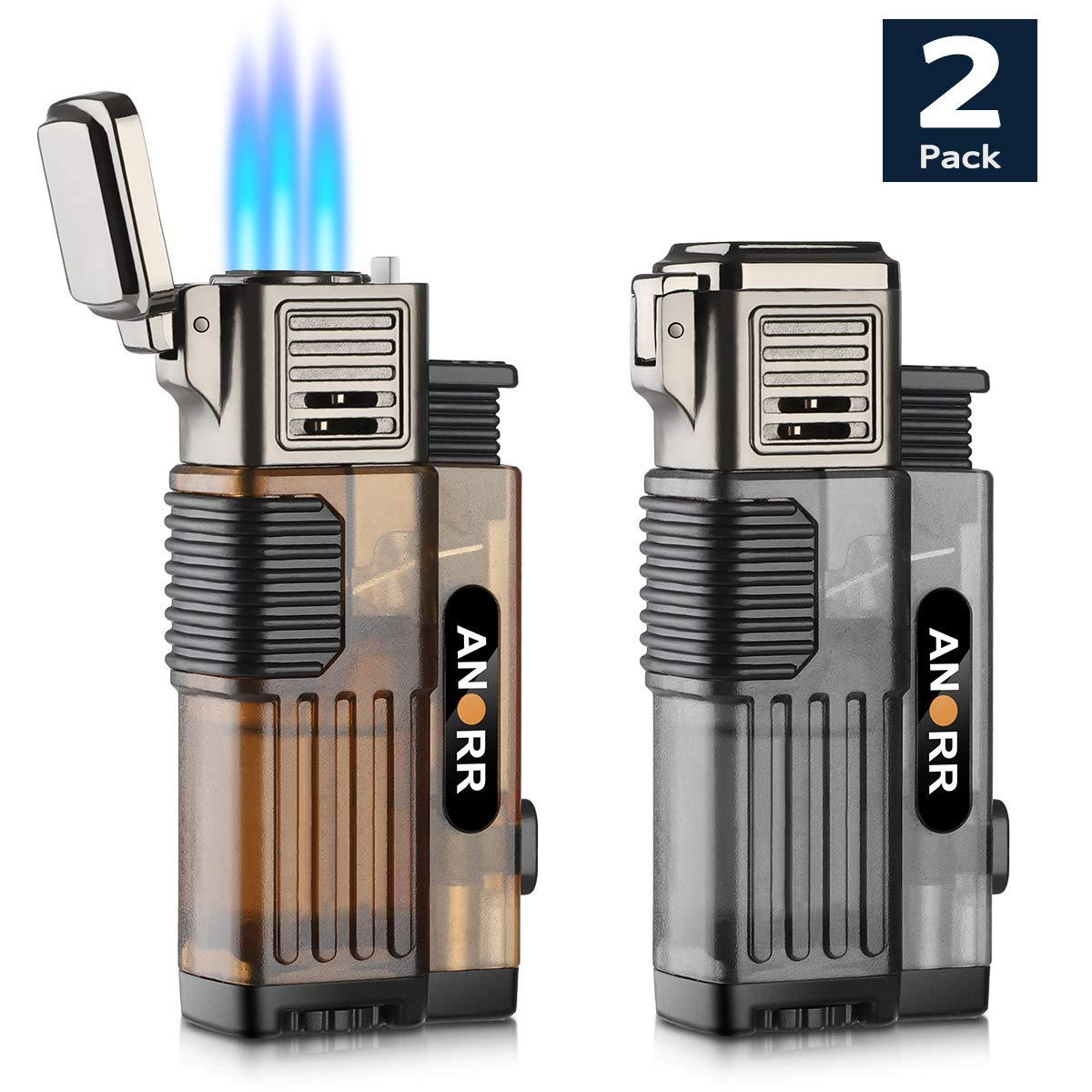 2 Pack Lighter Cigarette Adjustable Refillable
