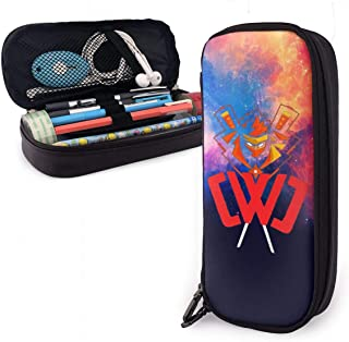 Colorful Galaxy CWC Chad Wild Clay Leather Pencil Case Student Office Pen Pencil Case Bag,Pouch Stationary Case Makeup Cosmetic Bag