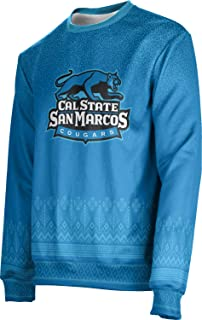 California State University San Marcos Ugly Holiday Unisex Sweater - Blizzard