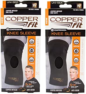 New Copper Fit Knee Sleeve, Men & Women for Compression, Flexibility, Anti-Odor-Size XL- 16