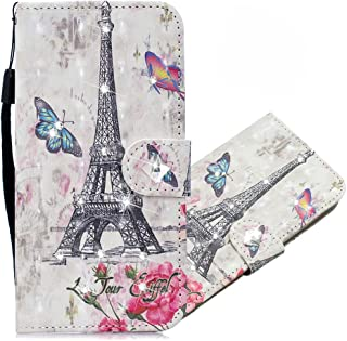 OOPKINS Xiaomi 10T 3D Diamond Case PU Leather Glitter Bling Magnetic Clasp Shockproof Durable bookstyle Card Holder Stand ...