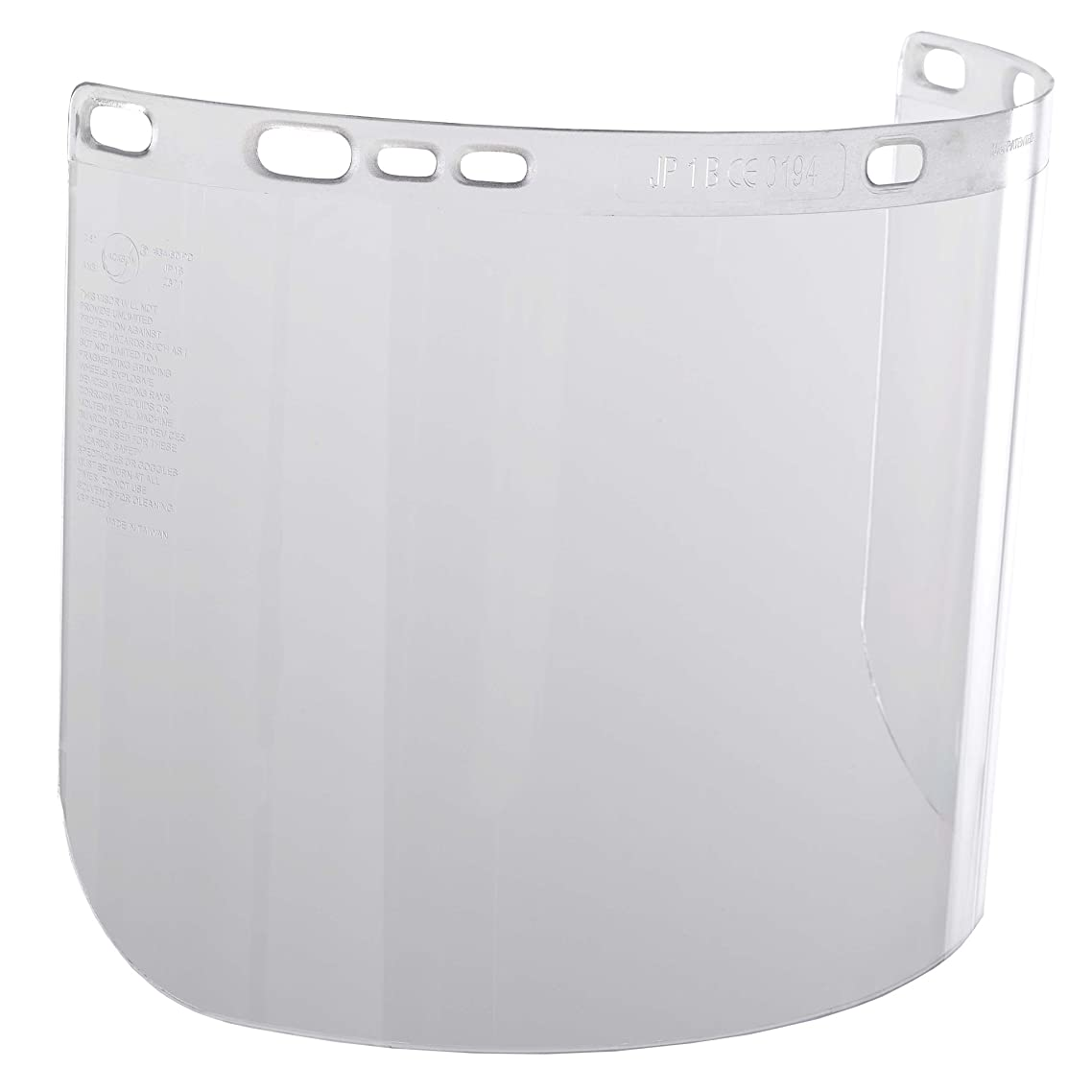 """Jackson Safety F20 High Impact Face Shield (29087), Polycarbonate, 8"""" x 15.5"""" x 0.06"""", Clear, Face Protection, Unbound, 12 Shields / Case"""