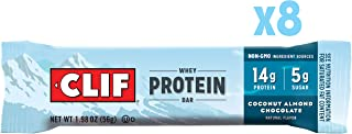 Clif Whey Protein - Snack Bars - Coconut Almond Chocolate Flavor - (1.98 Oz Complete Protein Bars, 8Count)