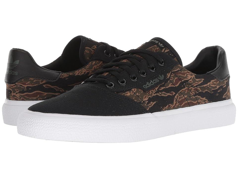 Image of adidas Skateboarding 3MC (Black/Brown/Night Cargo) Men's Skate Shoes