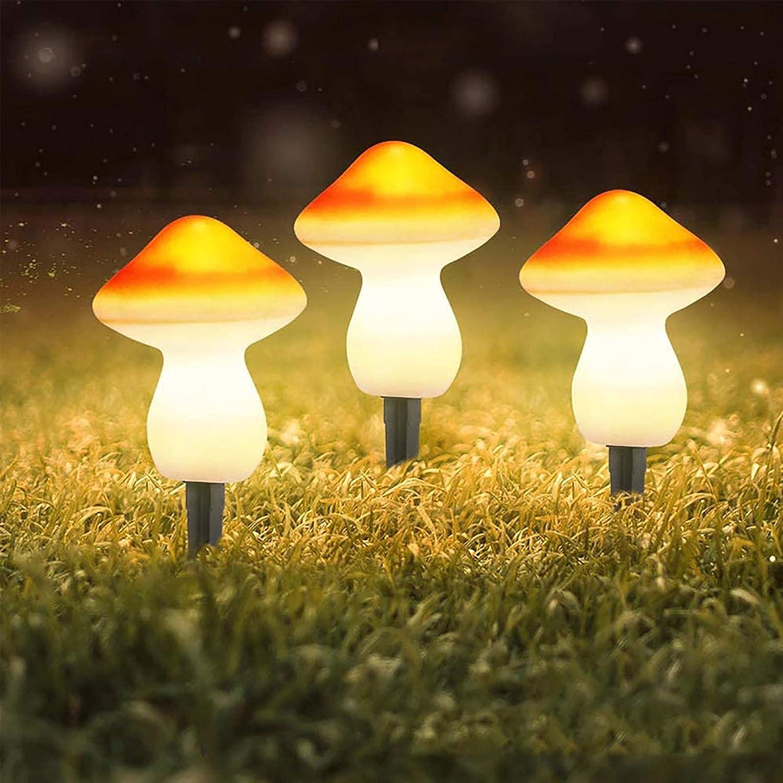 QCLU Garden Ornaments Solar Light Over item handling Outdoor Decoration Excellence L Mushroom