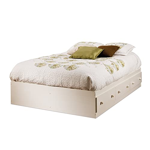 fb46246e77fb South Shore Summer Breeze Mates Bed with 3 Drawers, Full 54-inch, White
