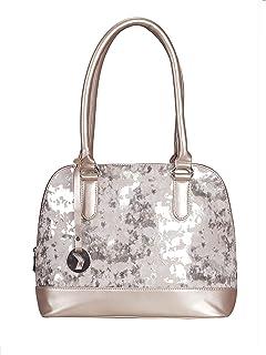 Khadim's Rose Gold Synthetic Dual Tone Handbag for Women