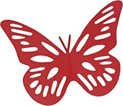 ELAN Butterfly Fridge Magnet, Home Decoration, Large (Red, Set of 2)