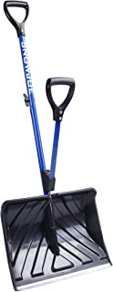 Snow Joe SJ-SHLV01 Shovelution Strain-Reducing Snow Shovel | 18-Inch | Spring Assisted Handle