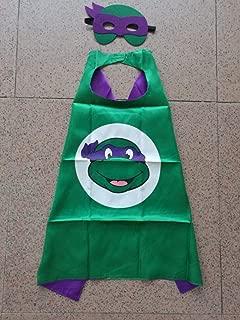 Superhero Halloween Party Cape and Mask Set for Kids 15+ Styles! (Teenage Mutant Ninja Turtles Donatello)